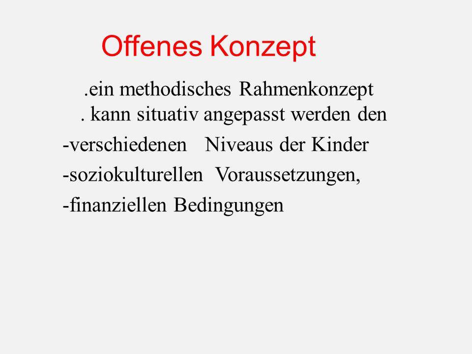 Offenes Konzept.ein methodisches Rahmenkonzept.