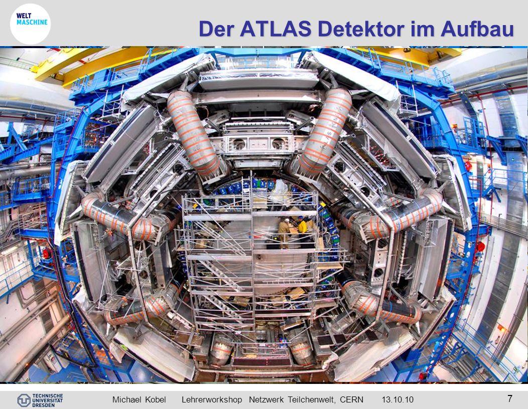 Michael Kobel Lehrerworkshop Netzwerk Teilchenwelt, CERN 13.10.10 7 Der ATLAS Detektor im Aufbau Beginn 2004