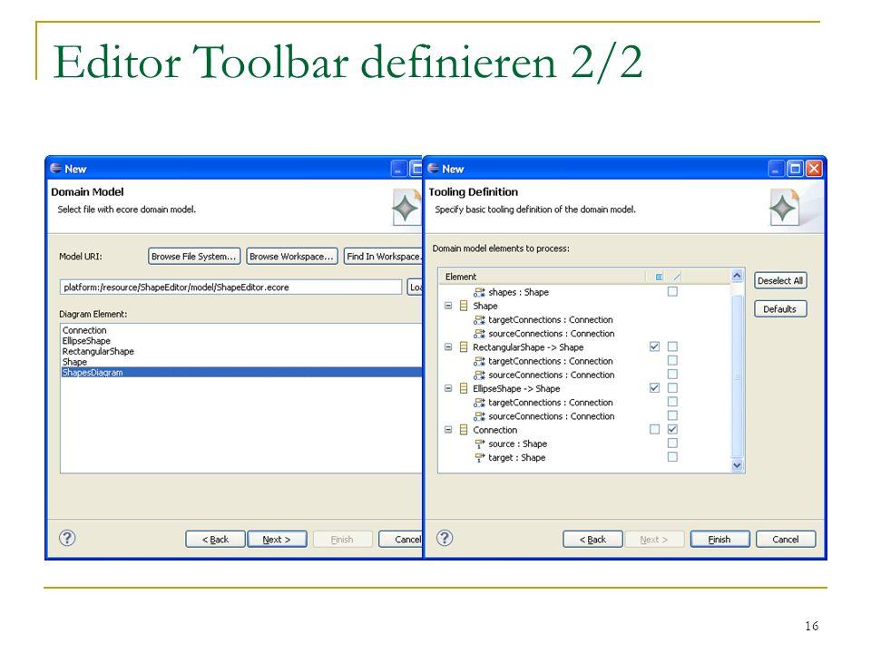 16 Editor Toolbar definieren 2/2