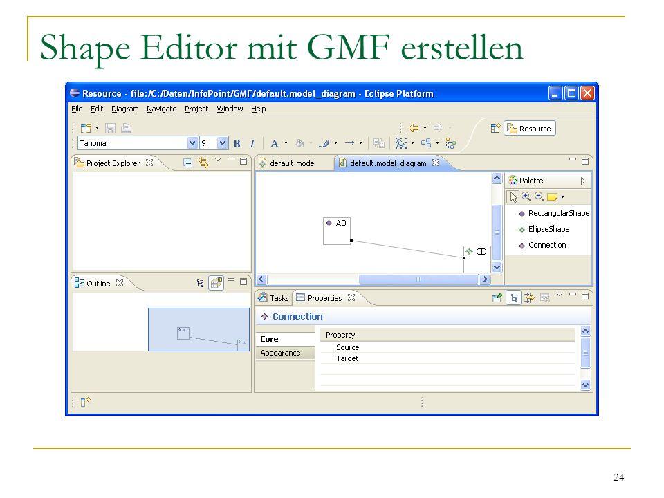 24 Shape Editor mit GMF erstellen