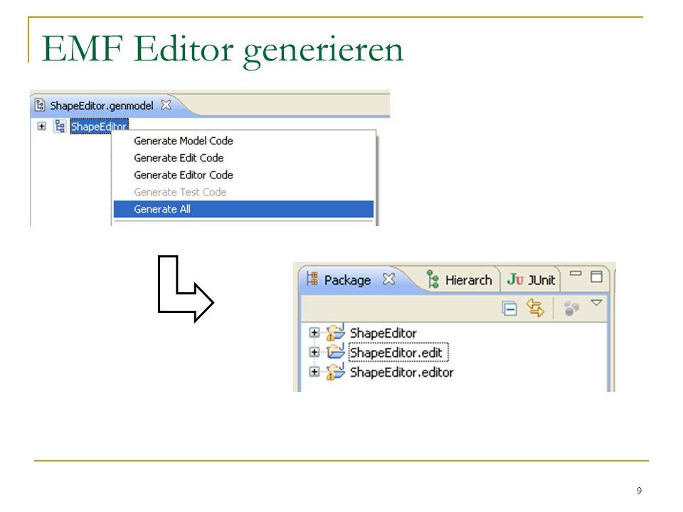 9 EMF Editor generieren