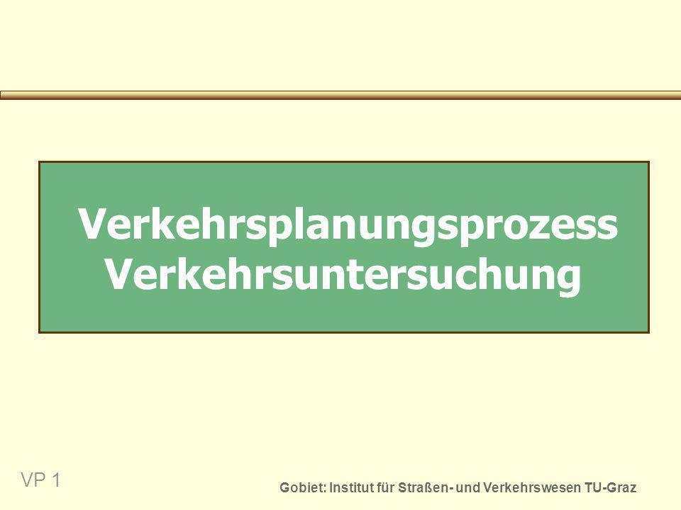 Gobiet: Institut für Straßen- und Verkehrswesen TU-Graz VP 1 Verkehrsplanungsprozess Verkehrsuntersuchung