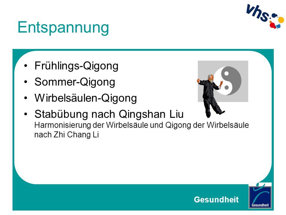 Entspannung Frühlings-Qigong Sommer-Qigong Wirbelsäulen-Qigong Stabübung nach Qingshan Liu Harmonisierung der Wirbelsäule und Qigong der Wirbelsäule n