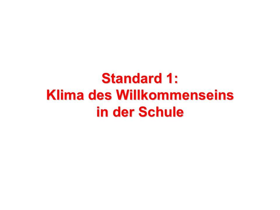 Standard 1: Klima des Willkommenseins in der Schule