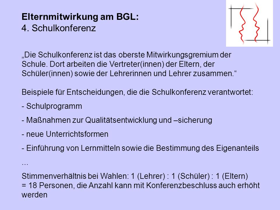 Elternmitwirkung am BGL: 5. Homepage des BGL