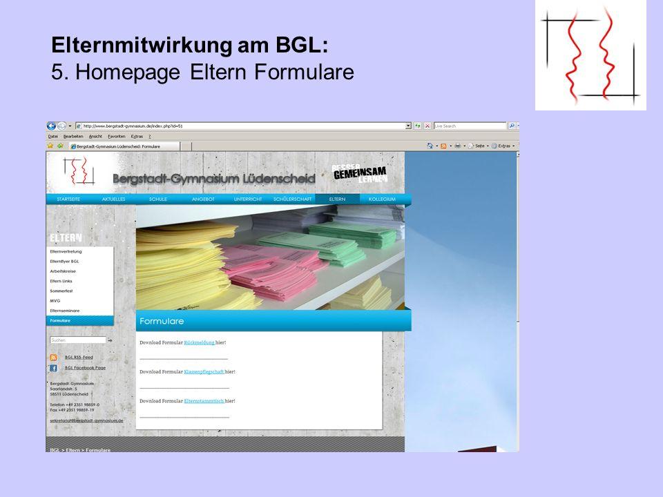 Elternmitwirkung am BGL: 5. Homepage Eltern Links