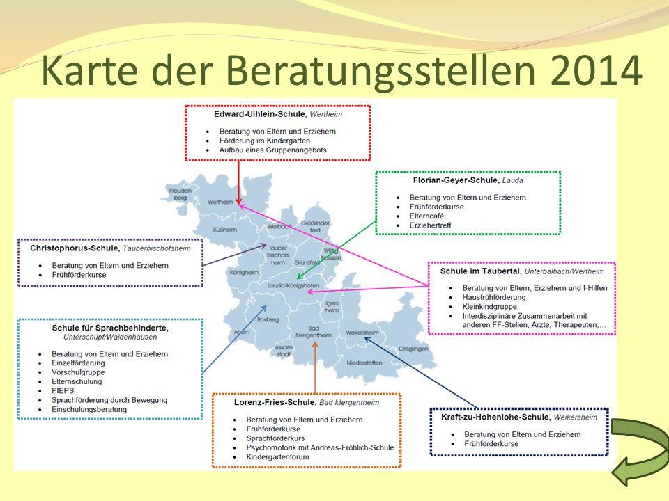 Karte der Beratungsstellen 2014