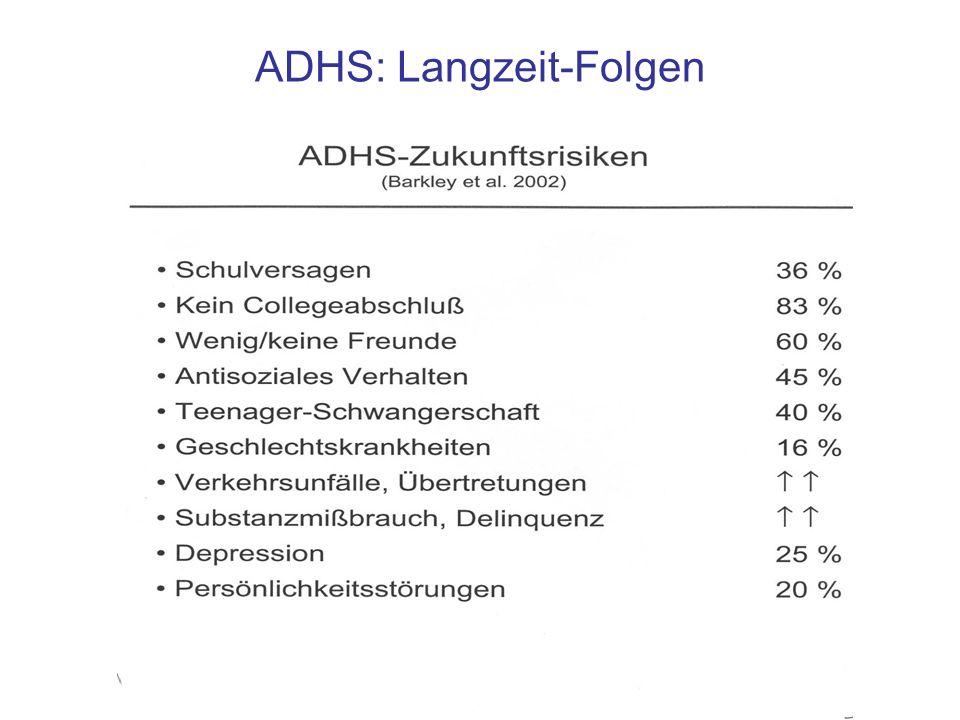 ADHS: Langzeit-Folgen