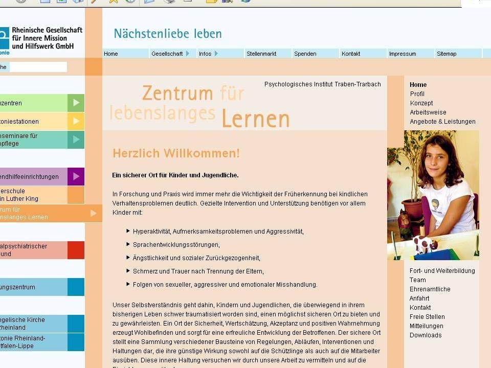 Bindung und Bindungsstörungen (c) J.Strauß Zentrum für lebenslanges Lernen 84