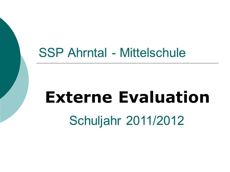 SSP Ahrntal - Mittelschule Externe Evaluation Schuljahr 2011/2012
