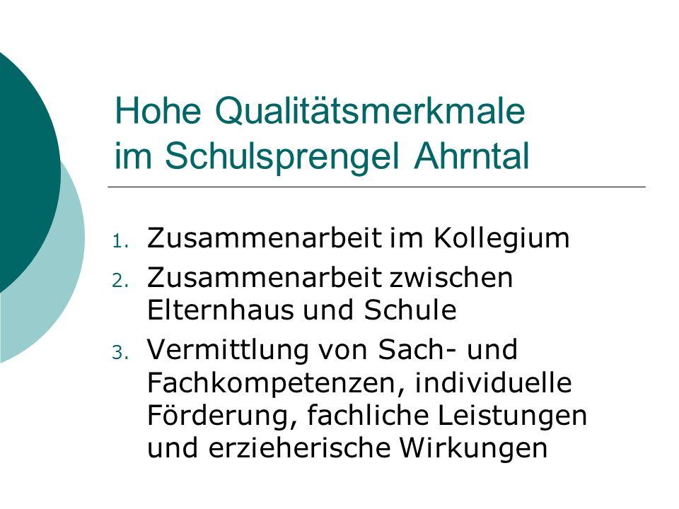 Hohe Qualitätsmerkmale im Schulsprengel Ahrntal 1.