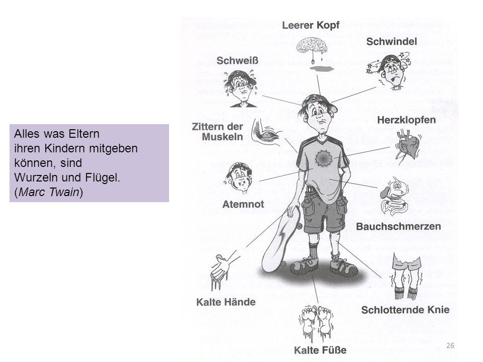 26 Alles was Eltern ihren Kindern mitgeben können, sind Wurzeln und Flügel. (Marc Twain)
