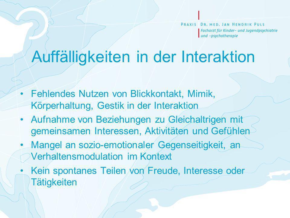 Therapie Vorrangig pädagogisch und therapeutisch, dazu Dipl.-Psych.