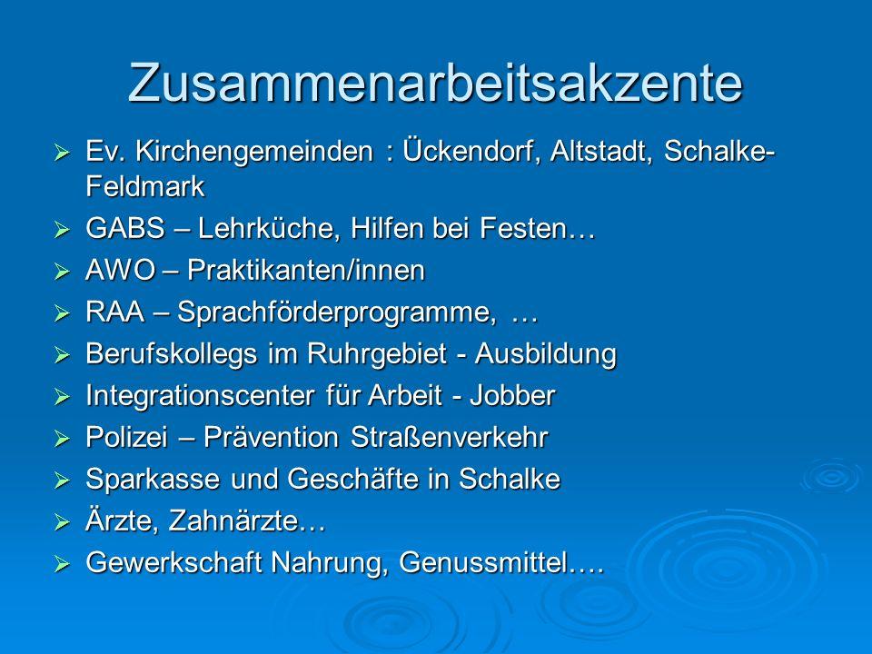 Zusammenarbeitsakzente Ev. Kirchengemeinden : Ückendorf, Altstadt, Schalke- Feldmark Ev. Kirchengemeinden : Ückendorf, Altstadt, Schalke- Feldmark GAB