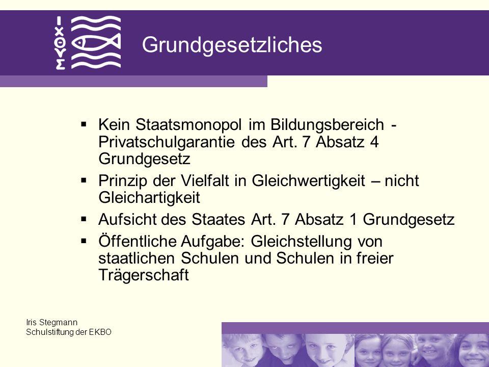 Grundgesetzliches Kein Staatsmonopol im Bildungsbereich - Privatschulgarantie des Art. 7 Absatz 4 Grundgesetz Prinzip der Vielfalt in Gleichwertigkeit