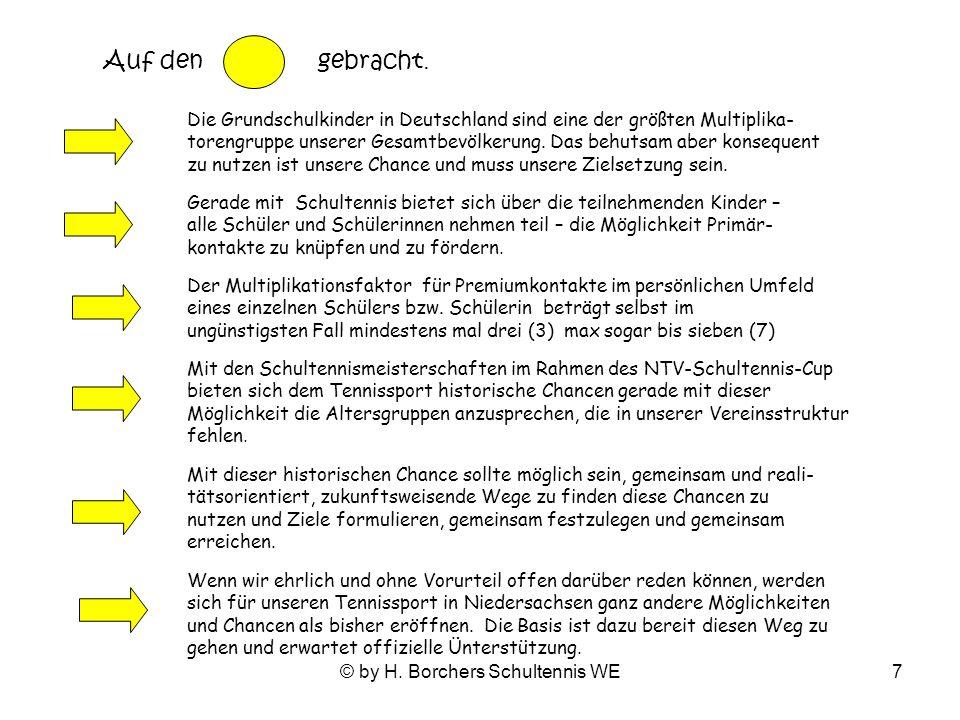 © by H.Borchers Schultennis WE7 Auf den gebracht.