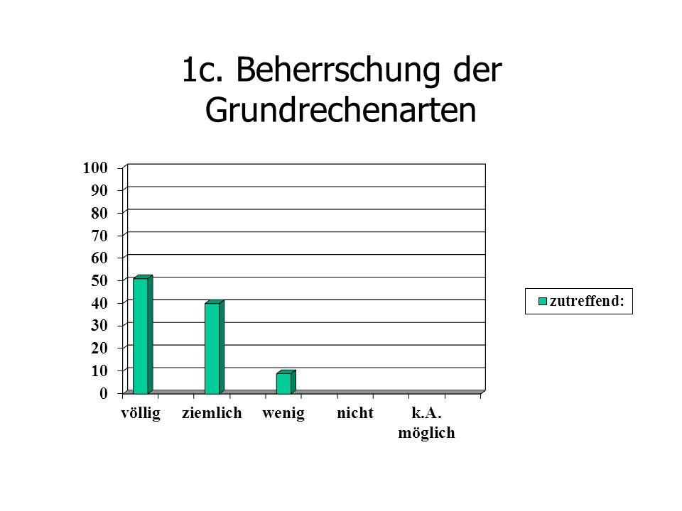 1c. Beherrschung der Grundrechenarten