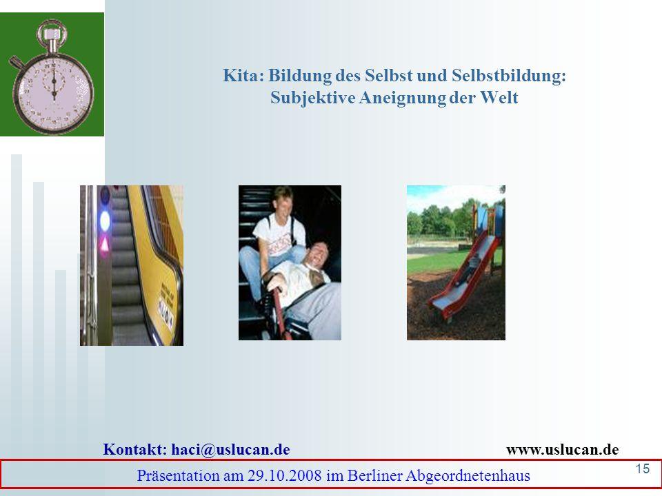 14 Intergenerationale Transmission von Werten: In Migrationskontexten intensivere Transmission Präsentation am 29.10.2008 im Berliner Abgeordnetenhaus