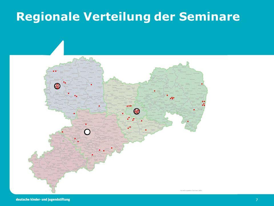 7 Regionale Verteilung der Seminare