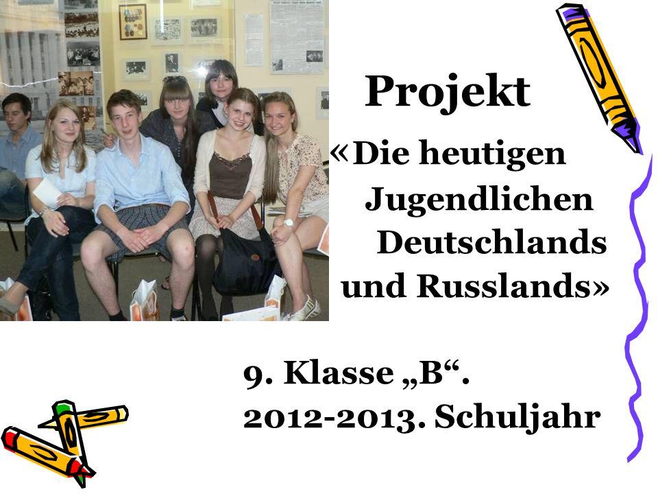 Die Ziele des Projektes: a) die Schüler die Traditionen und Sitten beider Länder kennen lernen.