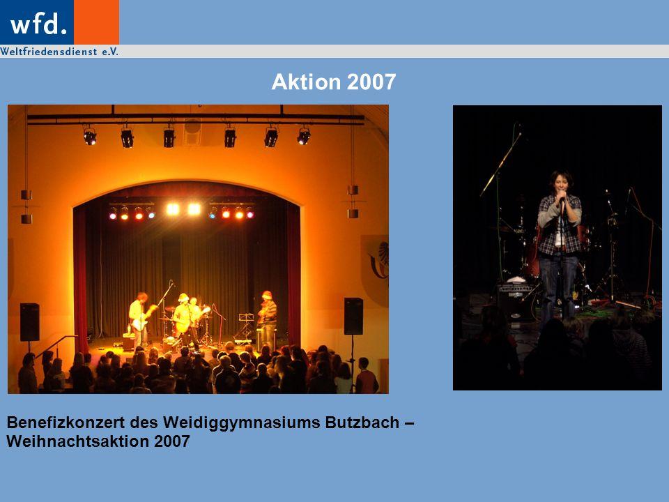 Aktion 2007 Benefizkonzert des Weidiggymnasiums Butzbach – Weihnachtsaktion 2007