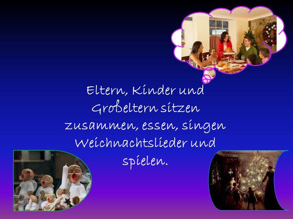 Die Kinder h ӧ ren Weihnachtsgeschichten.