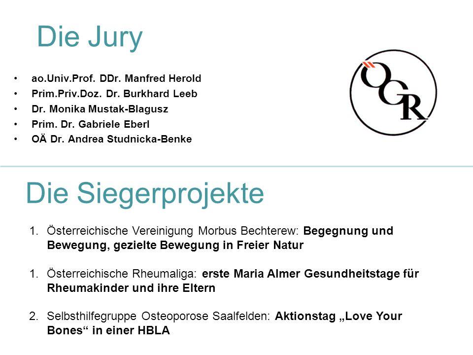 Die Jury ao.Univ.Prof. DDr. Manfred Herold Prim.Priv.Doz.