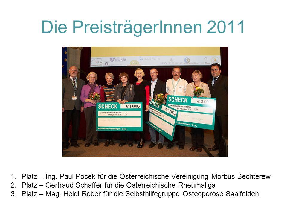 Die PreisträgerInnen 2011 1.Platz – Ing.