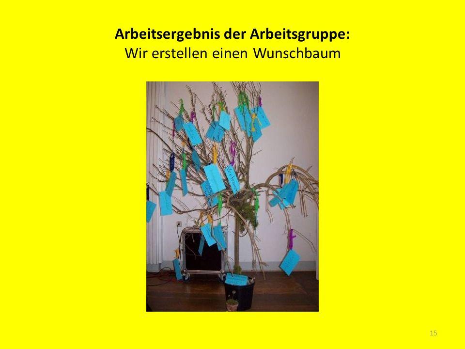 Arbeitsergebnis der Arbeitsgruppe: Wir erstellen einen Wunschbaum 15