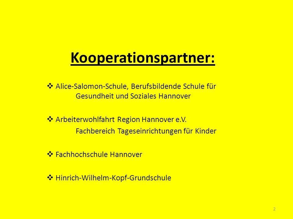 Kooperationspartner: Alice-Salomon-Schule, Berufsbildende Schule für Gesundheit und Soziales Hannover Arbeiterwohlfahrt Region Hannover e.V. Fachberei