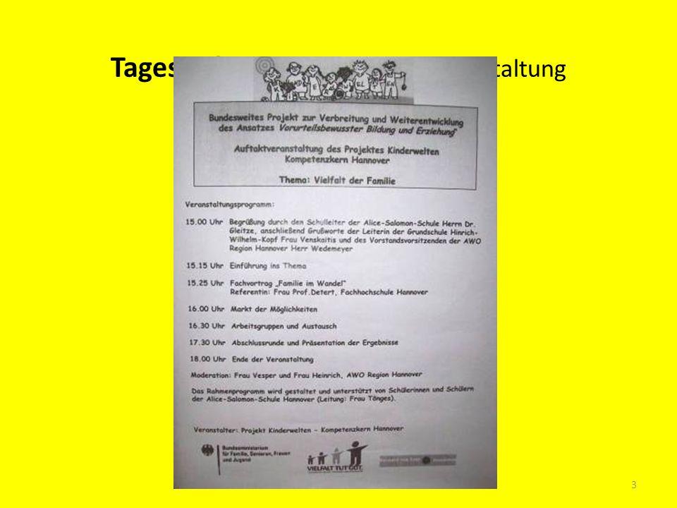 Tagesordnung der Auftaktveranstaltung 3