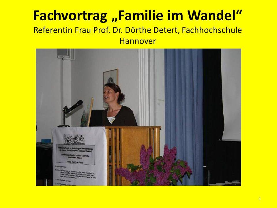 Fachvortrag Familie im Wandel Referentin Frau Prof. Dr. Dörthe Detert, Fachhochschule Hannover 4