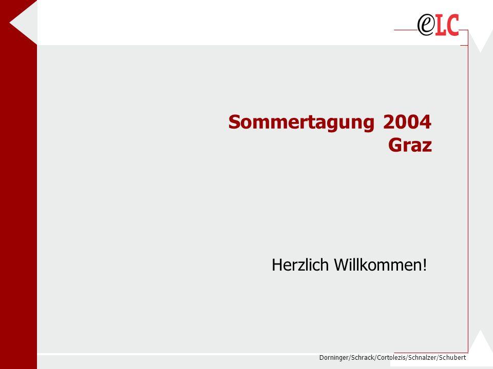 Dorninger/Schrack/Cortolezis/Schnalzer/Schubert Sommertagung 2004 Graz Herzlich Willkommen!