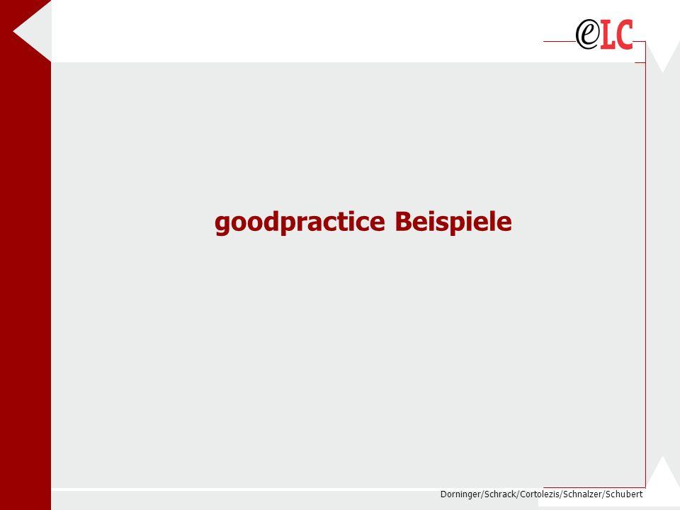 Dorninger/Schrack/Cortolezis/Schnalzer/Schubert goodpractice Beispiele