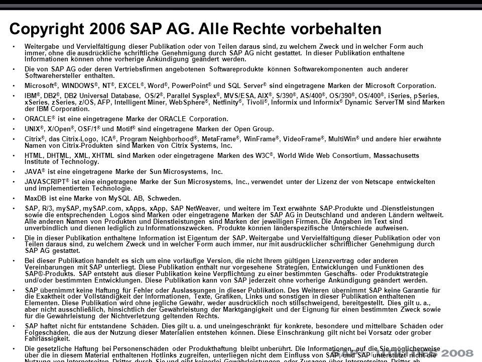 Copyright 2006 SAP AG.