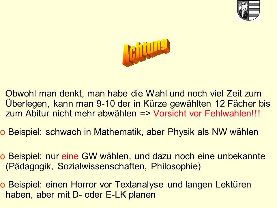 48 Vorstellung der neuen Fächer - von Informatik bis Pädagogik - am Donnerstag, 13.