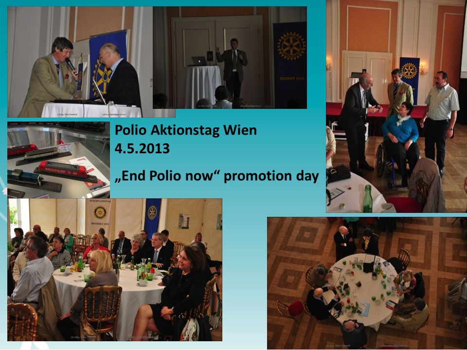 5 Polio Aktionstag Wien 4.5.2013 End Polio now promotion day