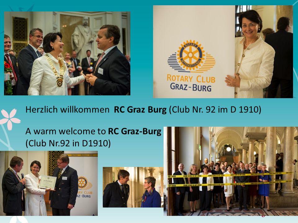 5 Herzlich willkommen RC Graz Burg (Club Nr. 92 im D 1910) A warm welcome to RC Graz-Burg (Club Nr.92 in D1910)
