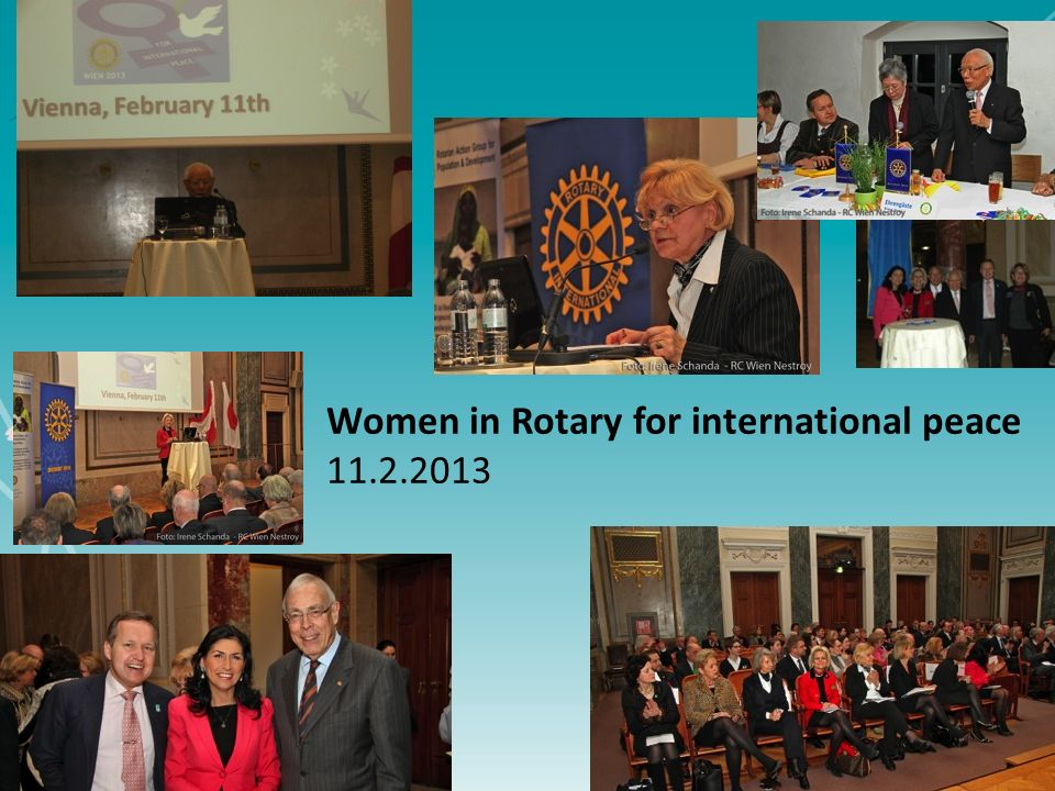 5 Women in Rotary for international peace 11.2.2013