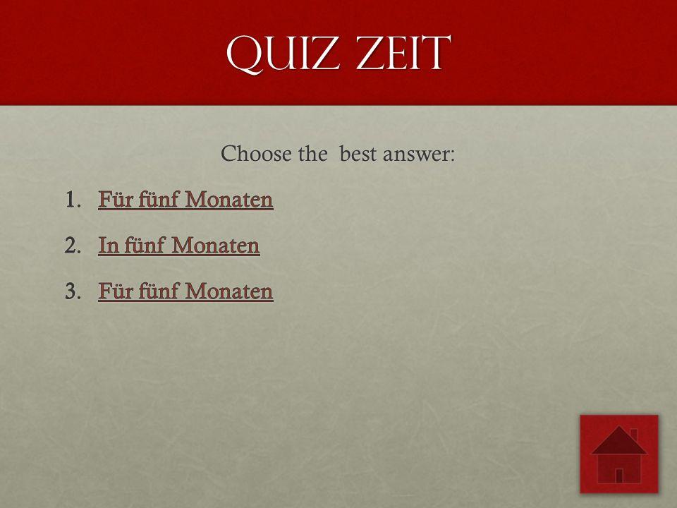 Quiz zeit