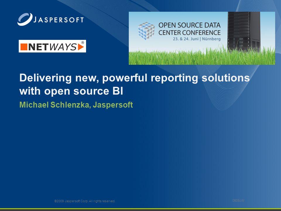 Agenda Reporting und Rechenzentren Vorstellung Jaspersoft Endbenutzersicht Hands on Ausblick Fragen & Antworten