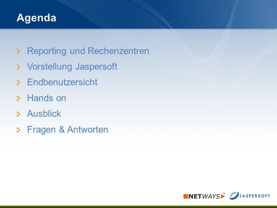 ©2010 Jaspersoft GmbH Vision von Überblick & Zeit
