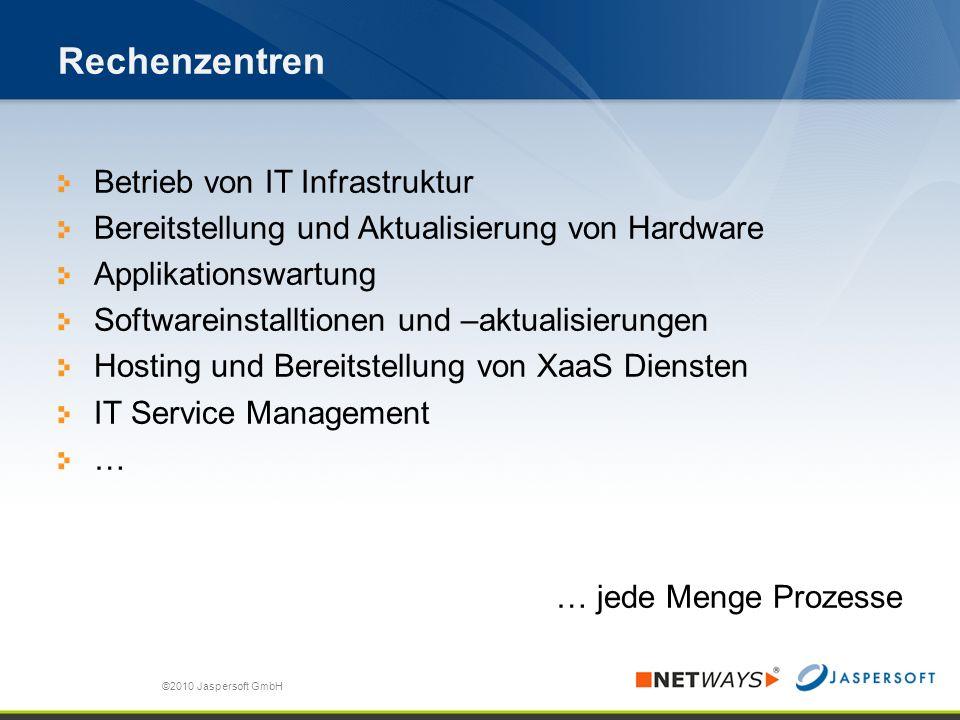 Rechenzentren Betrieb von IT Infrastruktur Bereitstellung und Aktualisierung von Hardware Applikationswartung Softwareinstalltionen und –aktualisierun