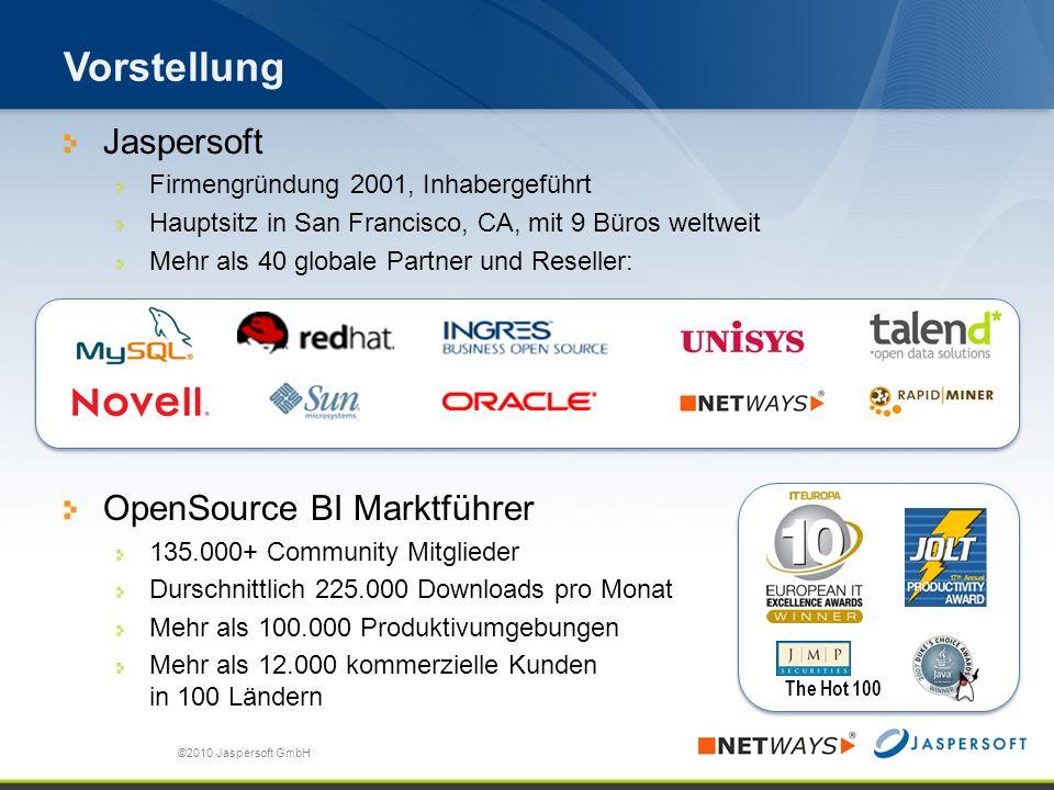 Was bietet Jaspersoft für das Reporting an.©2009 Jaspersoft Corp.