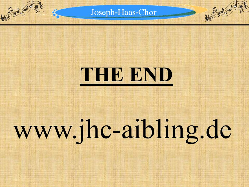 THE END www.jhc-aibling.de