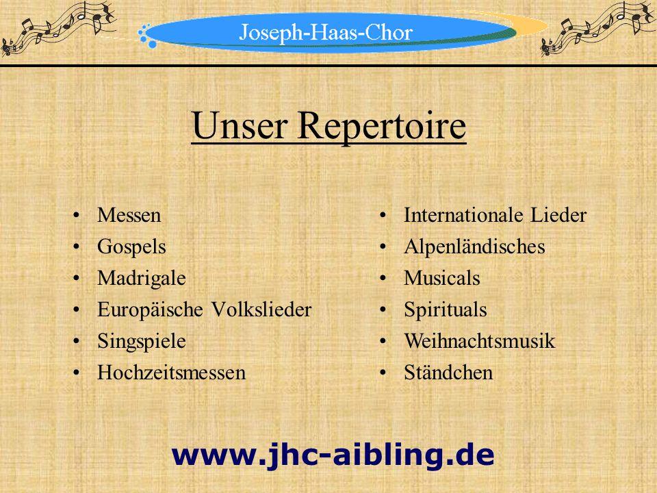 Unser Repertoire Messen Gospels Madrigale Europäische Volkslieder Singspiele Hochzeitsmessen Internationale Lieder Alpenländisches Musicals Spirituals