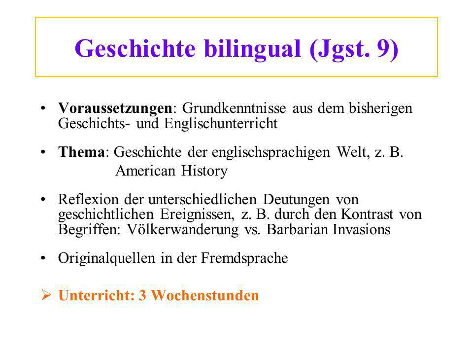Geschichte bilingual (Jgst.