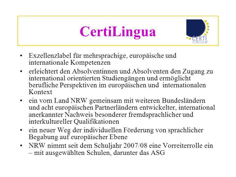 Voraussetzungen a) Fortführen von 2 lebendigen Fremdsprachen aus der Sek.