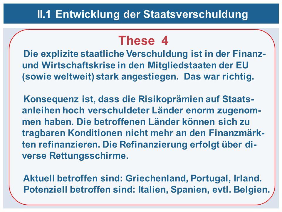 These 4 Die explizite staatliche Verschuldung ist in der Finanz- und Wirtschaftskrise in den Mitgliedstaaten der EU (sowie weltweit) stark angestiegen.