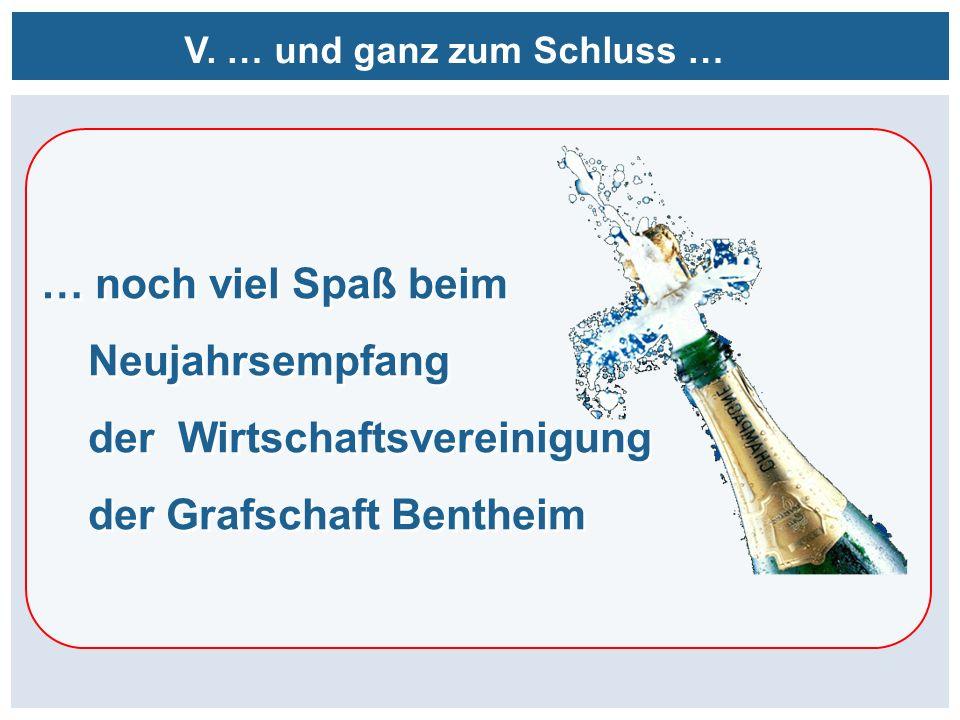 V. … und ganz zum Schluss … … noch viel Spaß beim Neujahrsempfang der Wirtschaftsvereinigung der Grafschaft Bentheim … noch viel Spaß beim Neujahrsemp